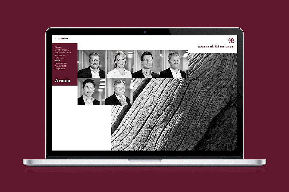 Aronia Group: Website, ihmiset