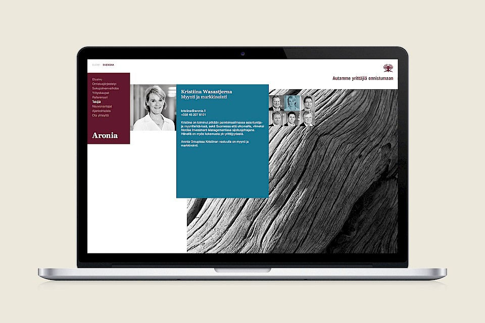 Aronia Group: Website, profile