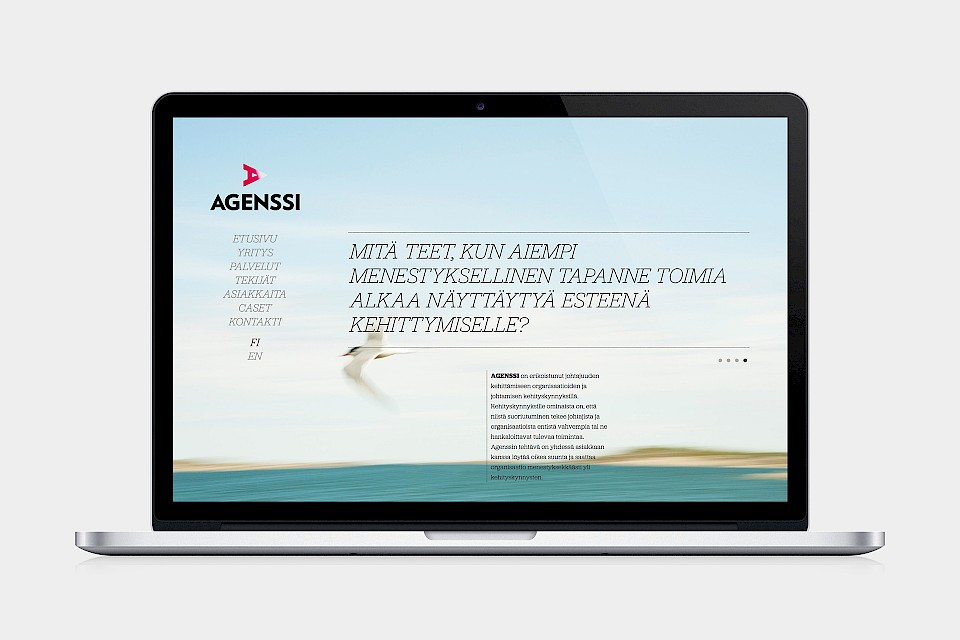 Agenssi: Website / Homepage