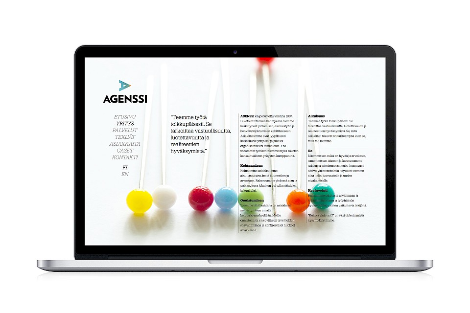 Agenssi: Website / About