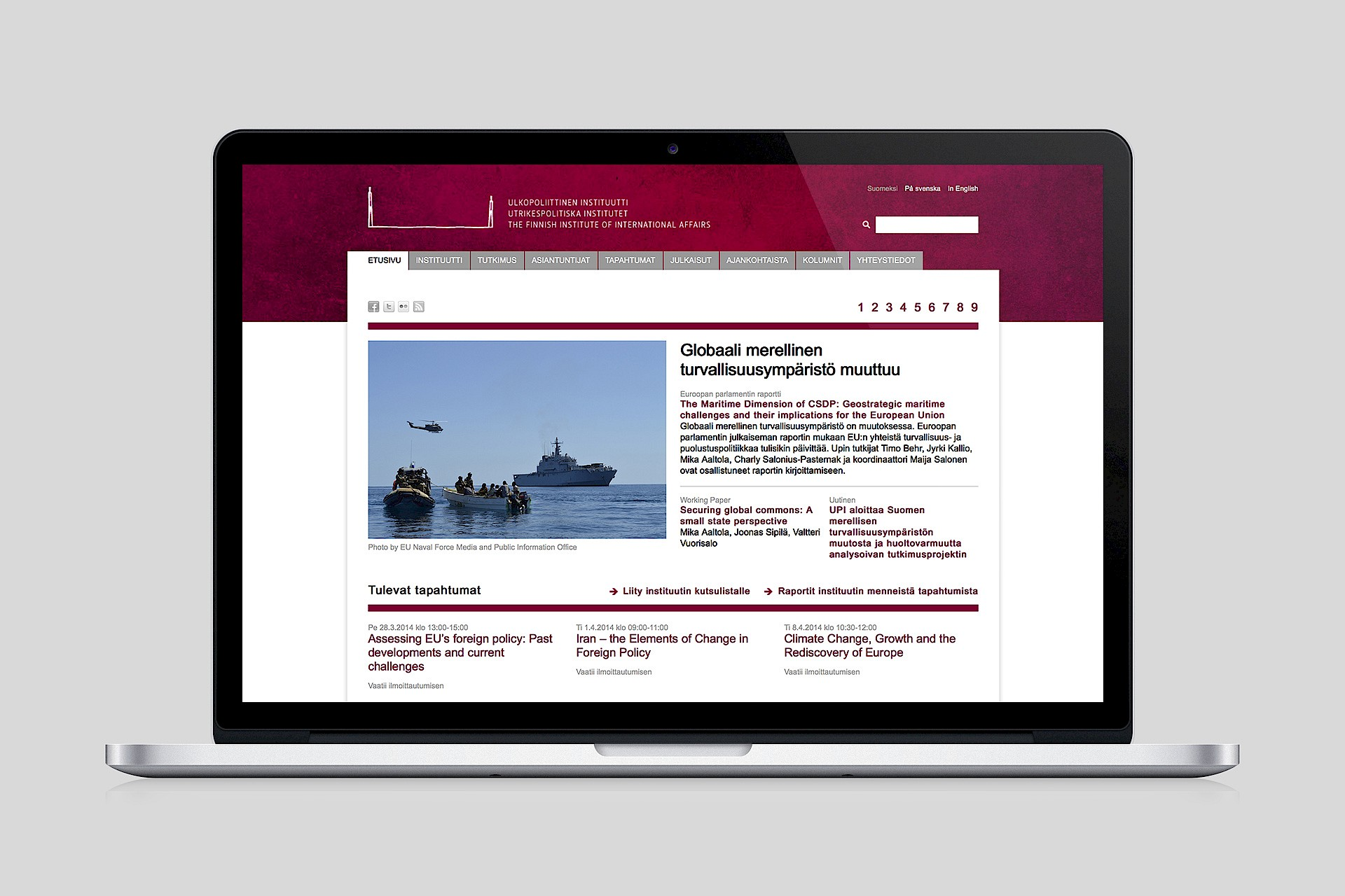 The Finnish Institute of International Affairs: Website / Homepage