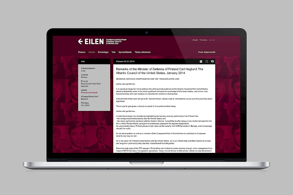 EILEN: Website / Article