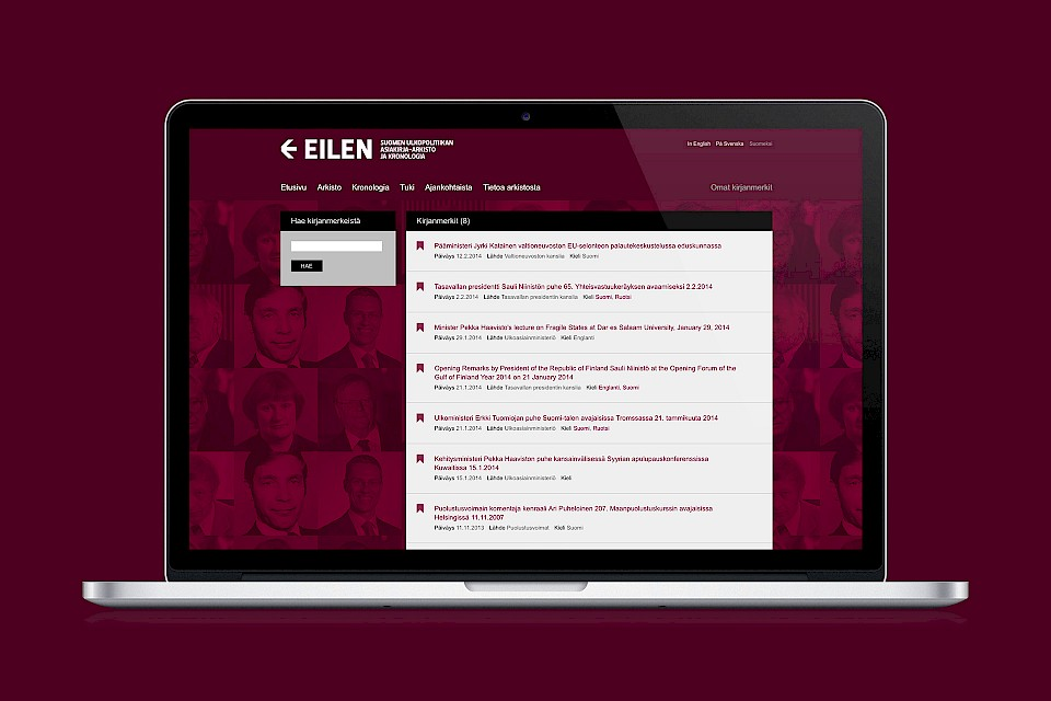 EILEN: Website / Bookmarks