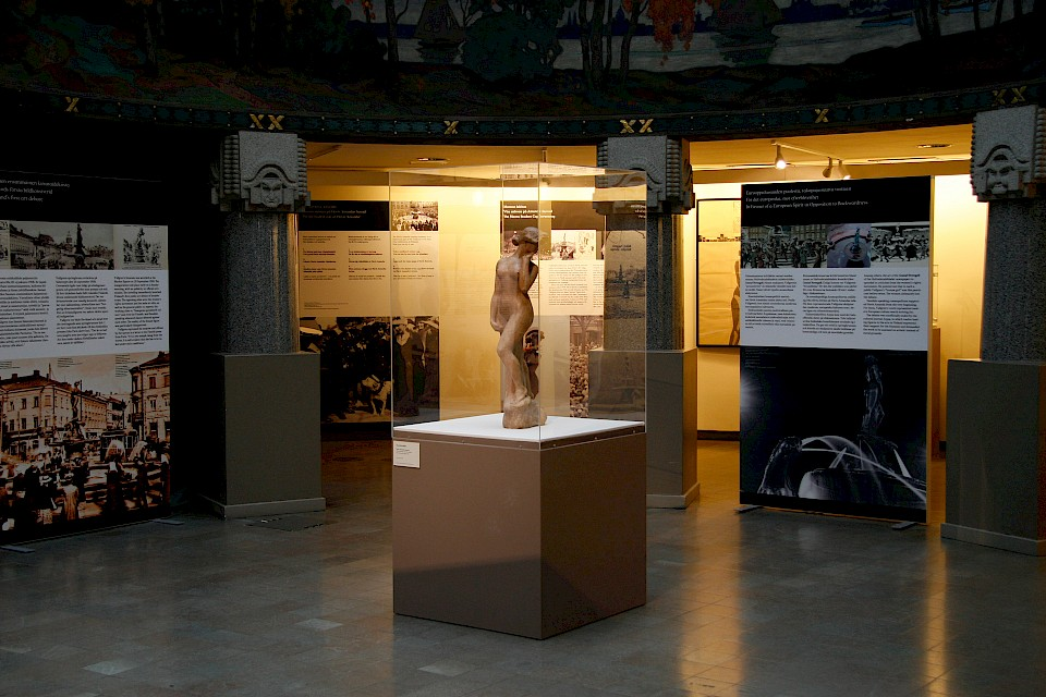 Havis Amanda 100 years: Exhibition space