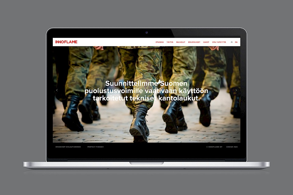 Innoflame: Website, case Finnish Defence Forces