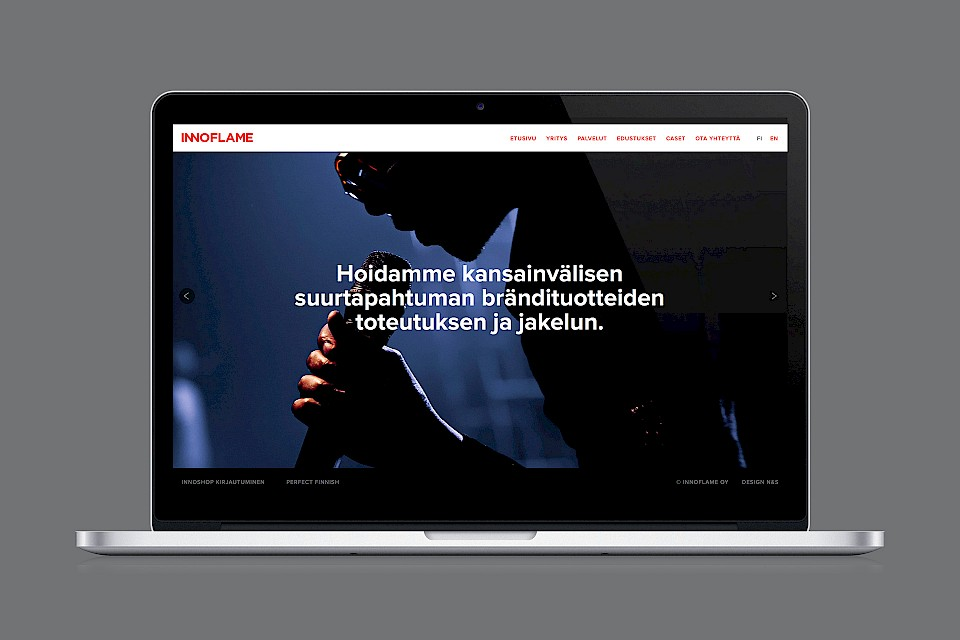 Innoflame: Website, case Pori Jazz