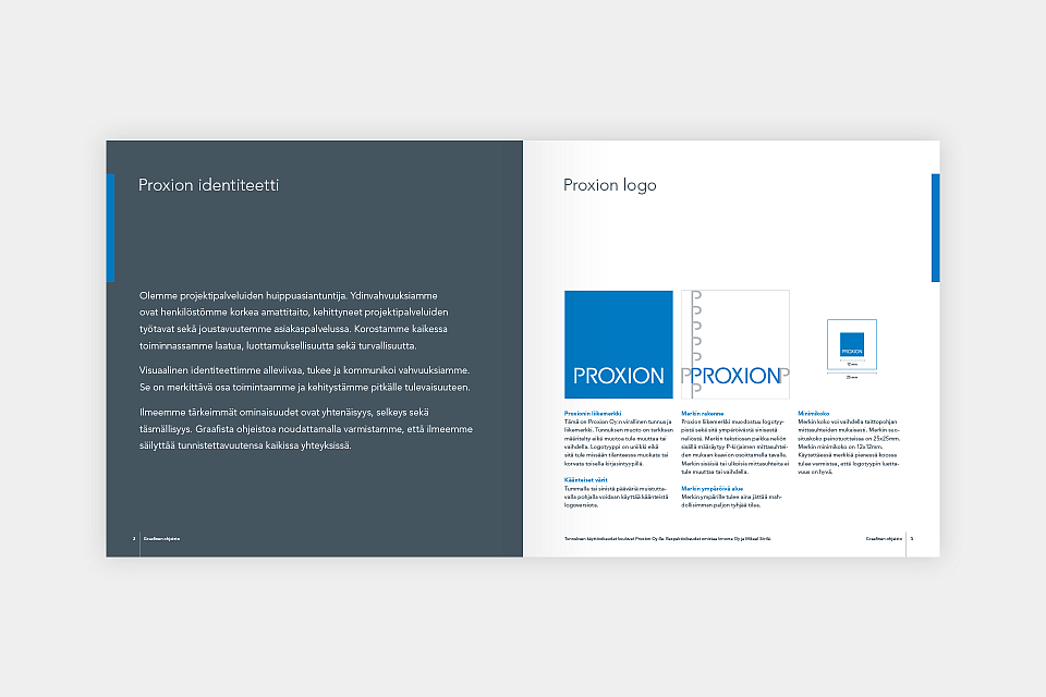 Proxion: Identity guidelines, introduction