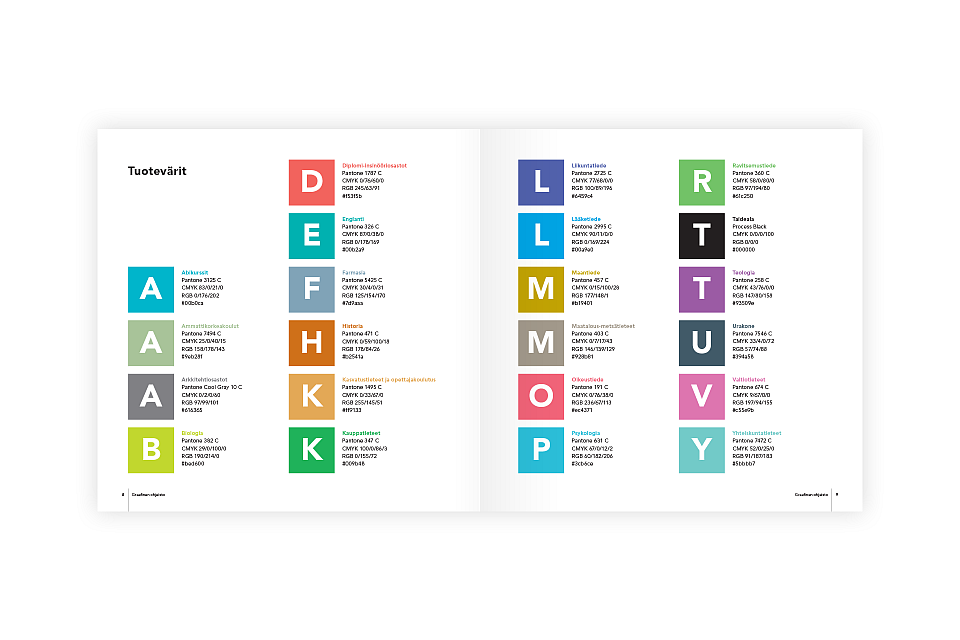 Eximia: Identity guidelines, colors